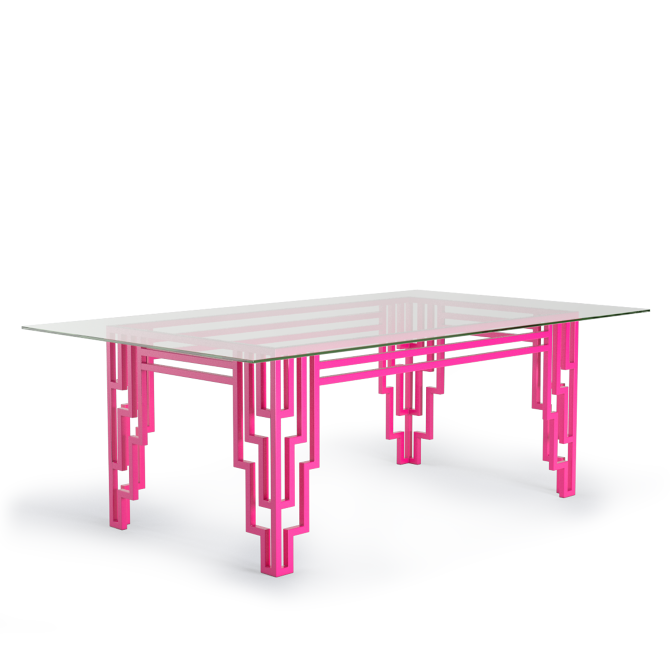 Modern Art Deco Neon Hot Pink Furniture Design Table Dining Tables